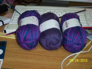 New purple sock yarn